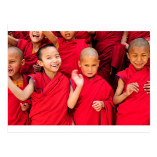 Little Monks in Red Robes Postcard