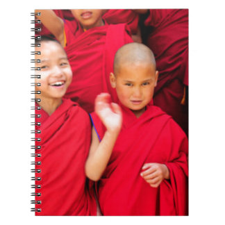 Little Monks in Red Robes Spiral Notebook