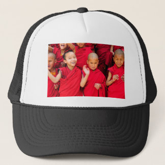 Little Monks in Red Robes Trucker Hat