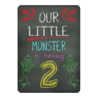 Little Monster Birthday Invitation 2 years old