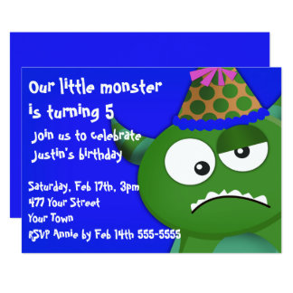 Little Monster Birthday Party Card