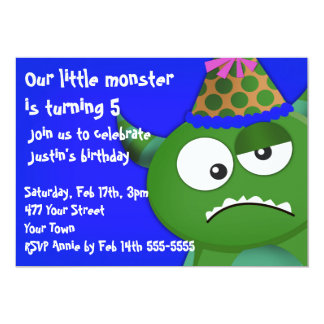 Little Monster Birthday Party Personalized Announcements