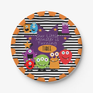 Little Monster Happy Birthday Paper Plates