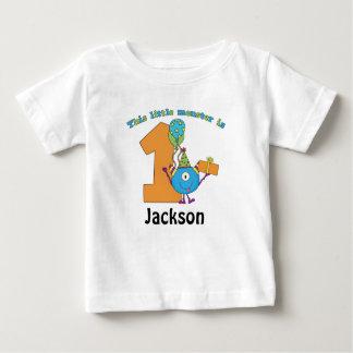 Little Monster Kids 1st Birthday Personalized Shirt