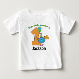 Little Monster Kids 1st Birthday Personalized Shirts