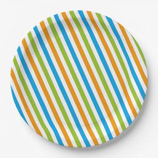 Little monster striped plates
