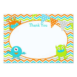 Little Monster Thank You Cards 9 Cm X 13 Cm Invitation Card