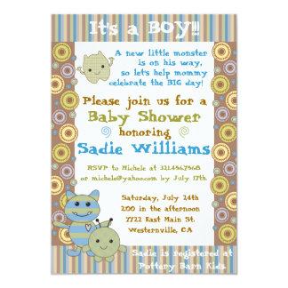 Little Monsters Baby Shower Invitation