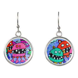 little monsters designer earrings by Cindy Ginter
