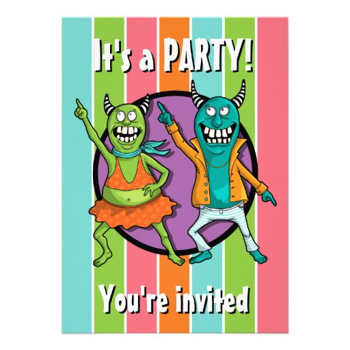 Little Monsters Disco Dancing Party! Custom Invitation