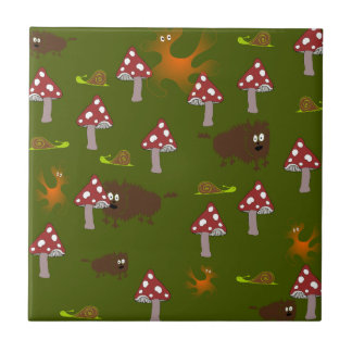 Little monsters small square tile