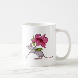 Little Mouse With Big Flower: Lily, Art Mug
