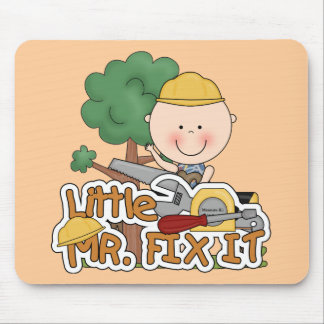 Little Mr. Fix-It Saw t-shirts and Gifts Mouse Pad