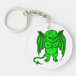 Little nasty Devil Double-Sided Round Acrylic Key Ring
