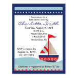 Little Navy Blue Sail Boat Baby Shower Invitation Post Cards