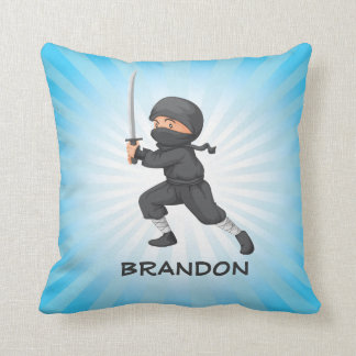 Little Ninja Design Throw Pillow