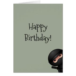 Little Ninja on Sage Green Happy Birthday Card