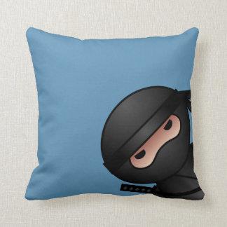 Little Ninja Warrior on Blue Cushion