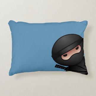 Little Ninja Warrior on Blue Decorative Cushion