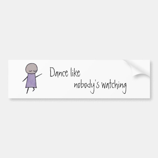 Little One dance bumper sticker
