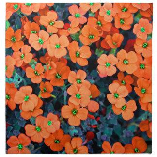 Little Orange Flowers Napkin