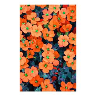 Little Orange Flowers Stationery