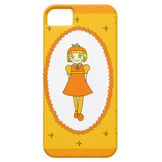 Little Orange Fruit Girl Barely There iPhone 5 Case