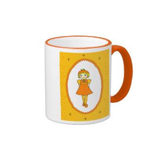 Little Orange Fruit Girl Mug