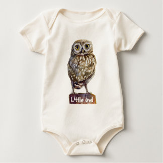 Little owl baby bodysuit
