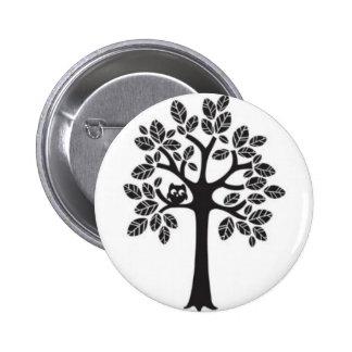 Little Owl Big Tree 6 Cm Round Badge