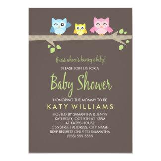 Little Owls Baby Shower Invite