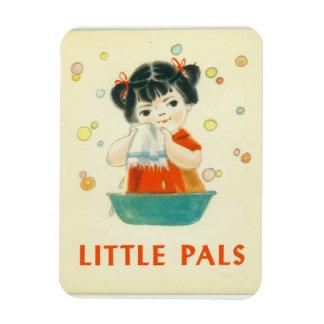 Little Pals Vintage Bathing Bubbles Rectangular Photo Magnet