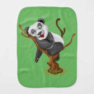 Little panda burp cloth