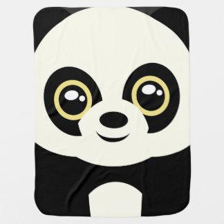 Little panda receiving blanket