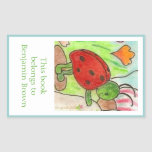 Little party bug bookplate sticker