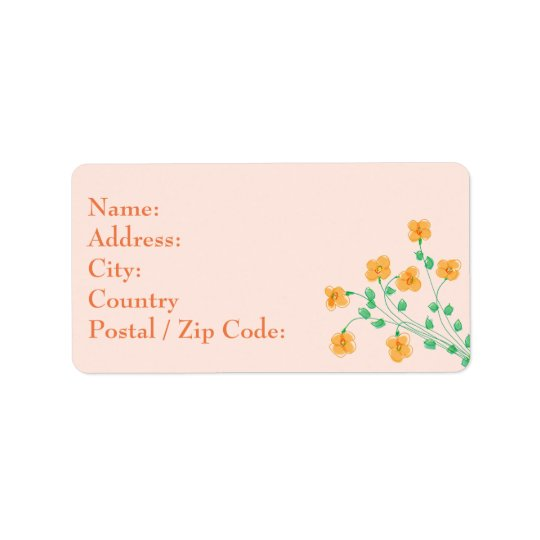Little Peach Address Label