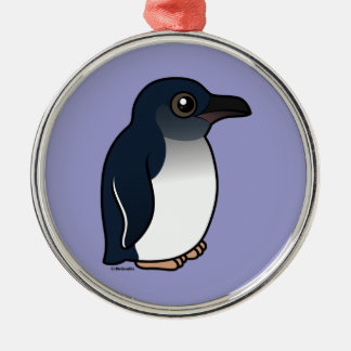Little Penguin Silver-Colored Round Decoration