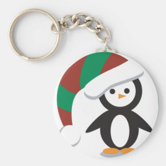 Little Penquins Basic Round Button Key Ring