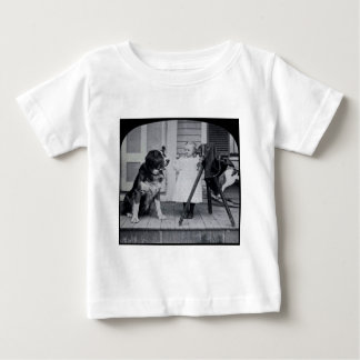 Little Photographer and Her St. Bernard Vintage Tshirts