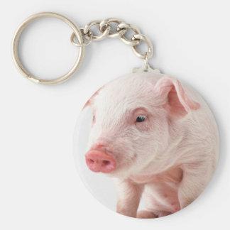Little Pig Basic Round Button Key Ring