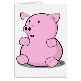 little-pig greeting card