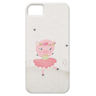 Little Pig dancing with some flies iphone 5 cover