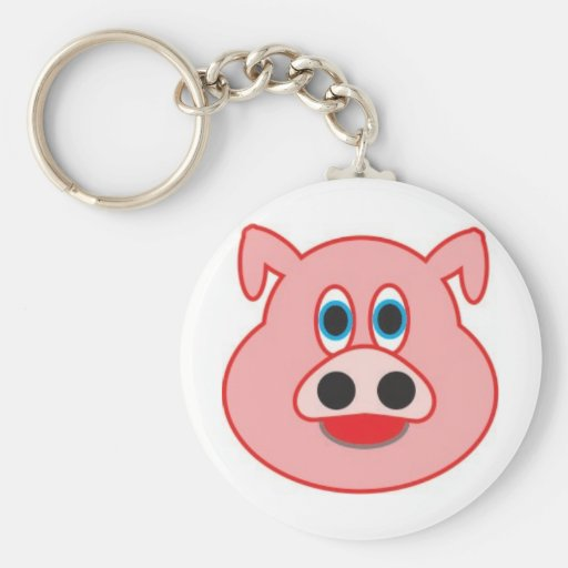 Little pig didactic illustration drawing pedagógic keychains