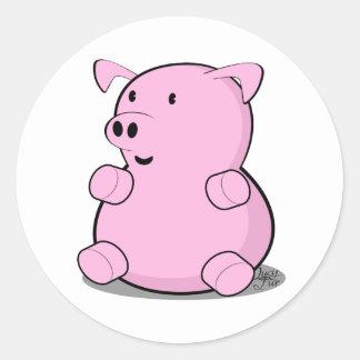 little-pig round sticker
