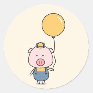 Little Piggy Classic Round Sticker