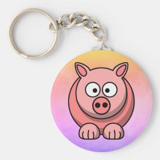 Little Piggy Pastel Coloured Keychain