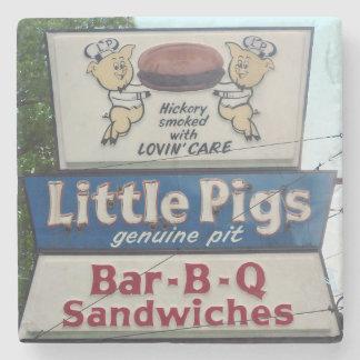 Little Pigs BBQ, Asheville North Carolina, Coaster Stone Coaster