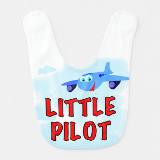 Little Pilot Blue Plane Bib