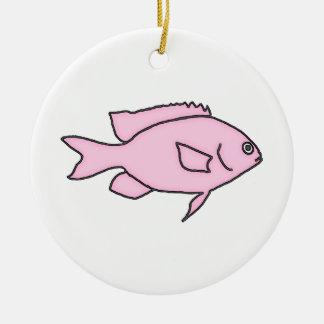 Little Pink Fish Ceramic Ornament