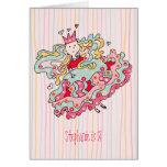 Little Pink Flower Princess Birthday Card